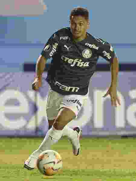 Gabriel Silva saiu do banco de reservas na vitória do Palmeiras sobre o Delfín - Cesar Greco