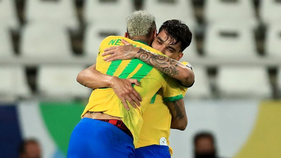 Gol de Paquetá veio com passe de Neymar em Brasil x Peru pela Copa América - Buda Mendes/Getty Images
