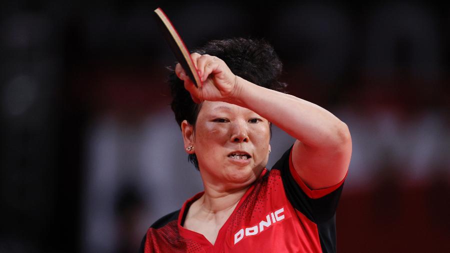 Ni Xia Lian, de Luxemburgo, perdeu para Yubin Shin, da Coreia do Sul - Steph Chambers/Getty Images