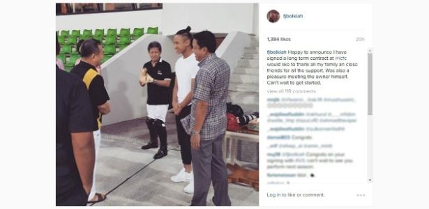 Faiq Jefri Bolkiah (camiseta branca) vinha jogando nas categorias de base do Chelsea - Instagram/Reprodução
