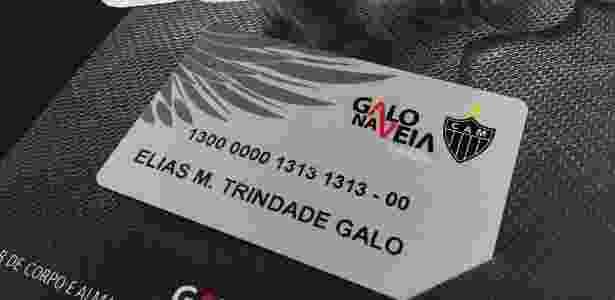 Atlético-MG divulgou o cartão de sócio-torcedor de Elias - Reprodução/Twitter - Reprodução/Twitter
