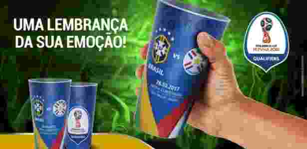 Jogo entre Brasil e Paraguai vai ter copo como lembrança - Reprodução