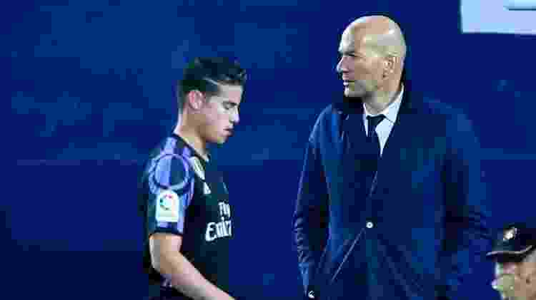 James Rodríguez mostra irritação com Zidane - Gonzalo Arroyo Moreno/Getty Images - Gonzalo Arroyo Moreno/Getty Images