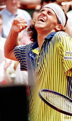 Gustavo Kuerten durante a semifinal de Roland Garros em 1997