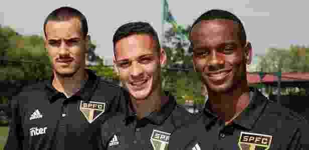 Igor Gomes, Antony e Helinho: jovens pedem passagem no Tricolor - Rubens Chiri/saopaulofc.net