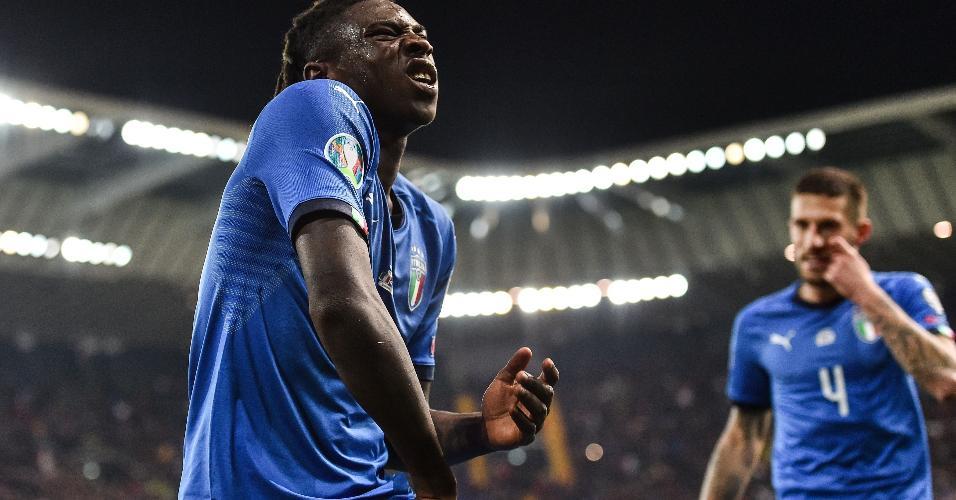 Kean, de 19 anos, marcou o seu primeiro gol com a camisa italiana