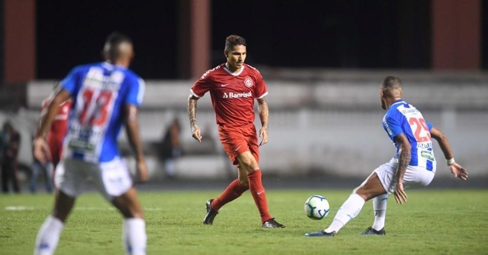 Guerrero, durante partida entre Inter e Paysandu