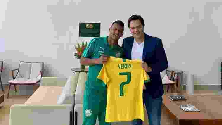 Fábio Mello é agente de Gabriel Verón, promessa do Palmeiras - Arquivo Pessoal - Arquivo Pessoal
