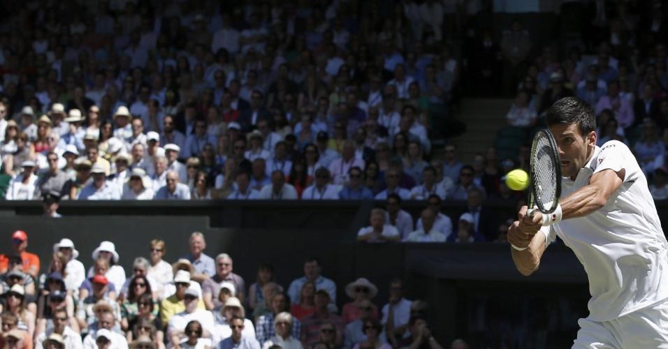 Novak Djokovic nas semifinais de final em Wimbledon