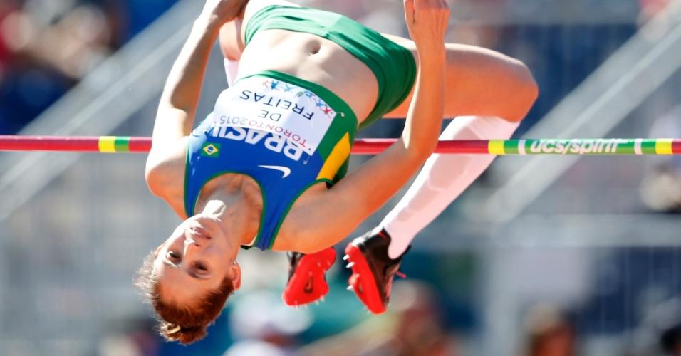 Mônica de Freitas participa do salto em altura. Brasileira terminou na 14ª colocação
