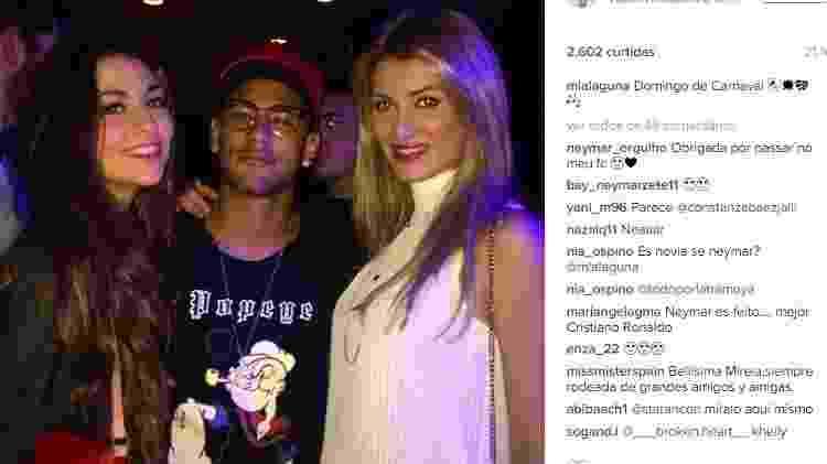 Neymar junto com Miss Mundo - Reprodução - Reprodução
