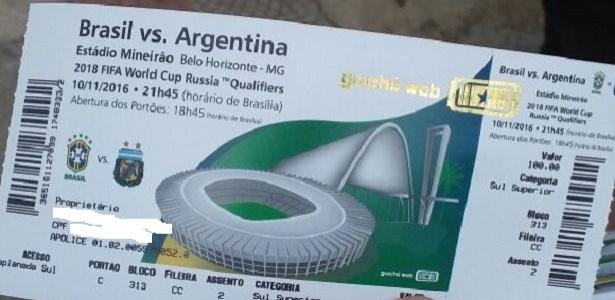 Ingresso de R$ 250 era revendido por cambistas a R$ 400 no Mineirão