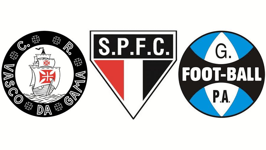 Você sabe reconhecer os escudos antigos dos clubes brasileiros  - 03 ... d3b85d69351ef