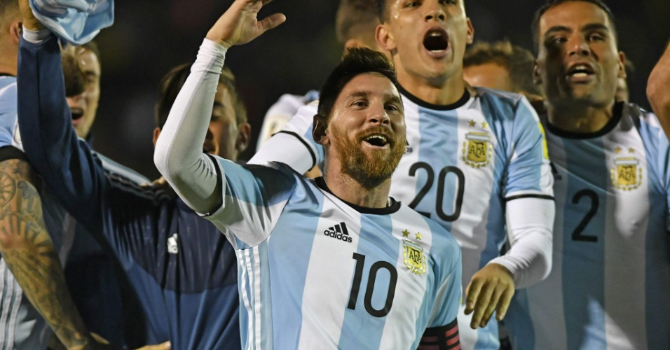 Messi comanda a festa da Argentina