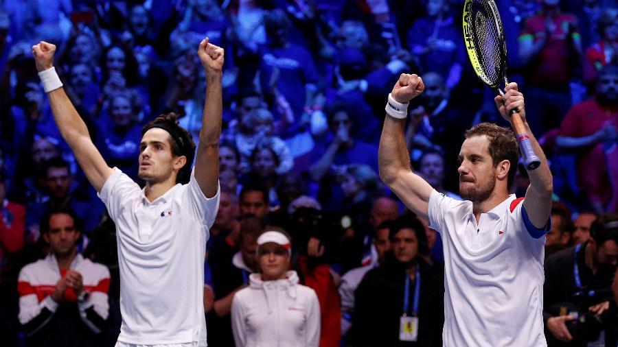 Gasquet e Herbert vencem jogo de duplas na final da Copa Davis entre França e Bélgica - REUTERS/Pascal Rossignol
