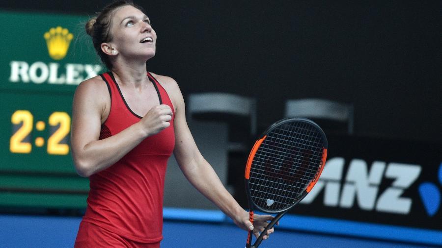 Simona Halep usou o vestido durante os seis jogos em Melbourne - Peter Parks/AFP