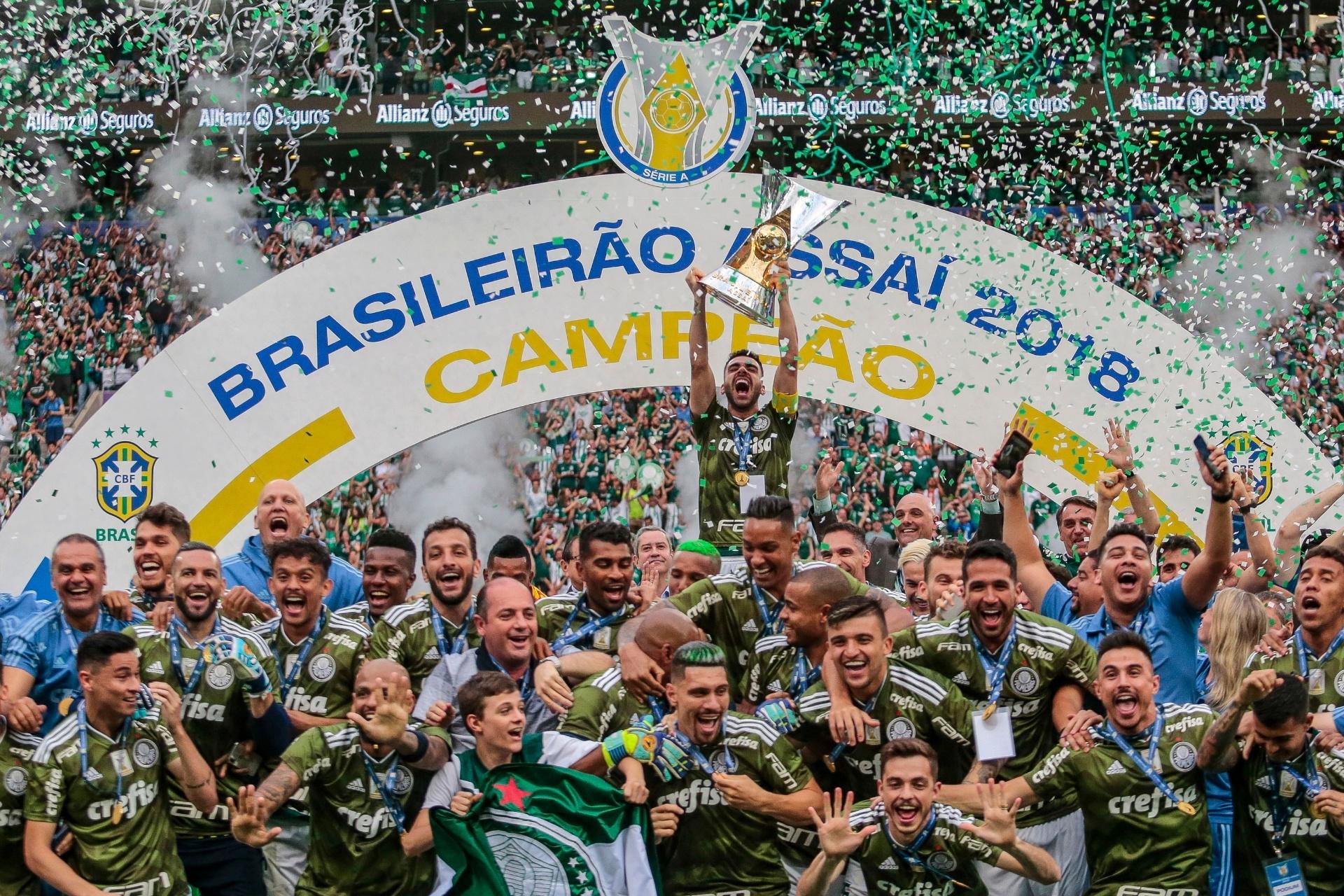 3ac4a10fef Palmeiras se isola na liderança do ranking da CBF após título brasileiro -  05 12 2018 - UOL Esporte