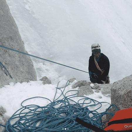 Leandro Iannotta, durante escalada na Argentina - Reprodução/Instagram Leandro Iannotta