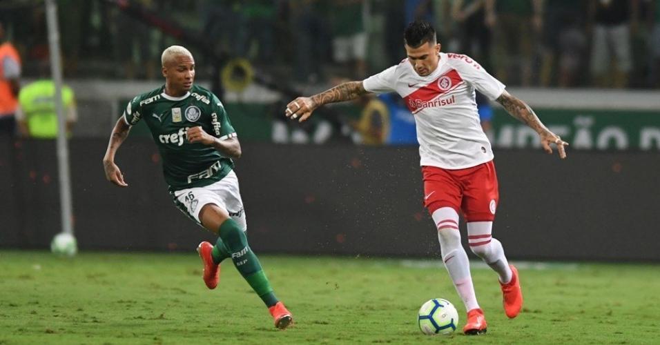 Deyverson, durante Palmeiras x Internacional