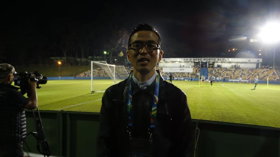 Jornalista Japonês Kimio Ido, que se mudou para o Brasil por causa do Corinthians - Marinho Saldanha/UOL