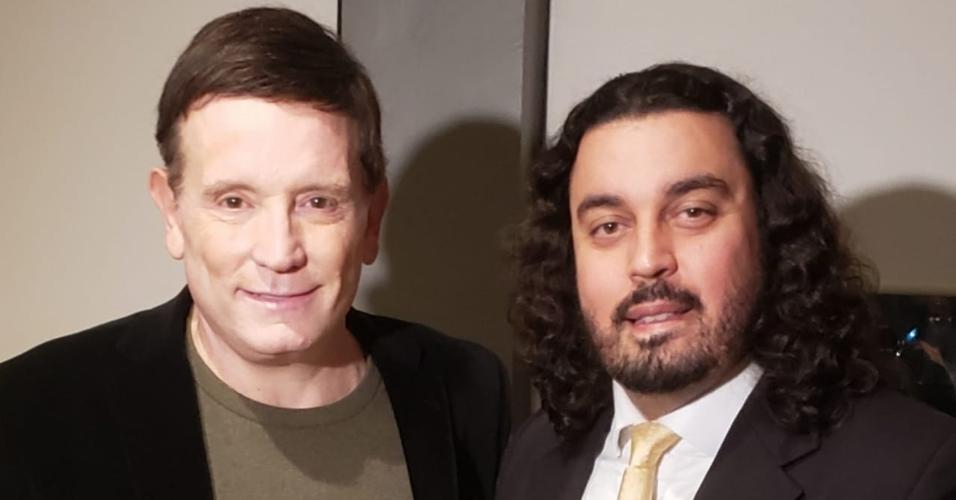 Danilo Garcia de Andrade, ex-advogado de Najila Trindade e o repórter Roberto Cabrini