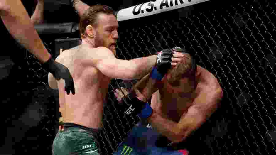 Conor McGregor venceu por nocaute técnico em 40 segundos - Getty Images