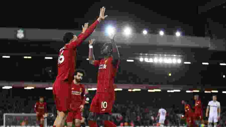 Liverpool, do atacante senegalês Sadio Mané, recebe o West Ham pelo Campeonato Inglês - Clive Brunskill / Getty Images