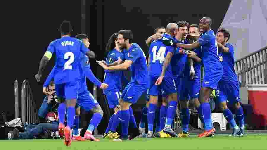 Equipe Getafe durante classificação às oitavas da Liga Europa  - JOHN THYS/AFP