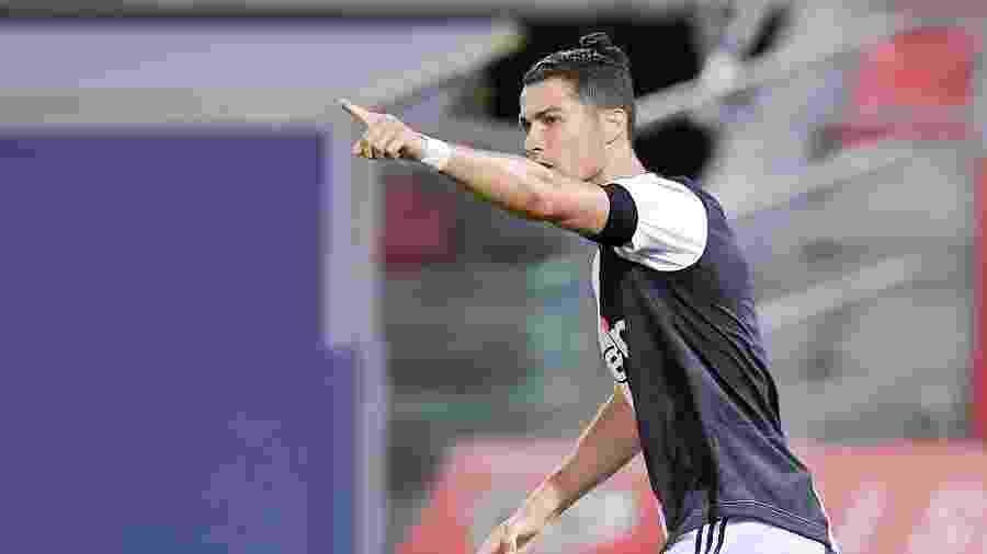 Cristiano Ronaldo comemora gol da Juventus contra Bologna - Daniele Badolato/Juventus FC via Getty Images