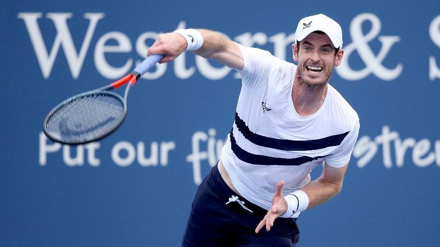 Andy Murray, durante partida no Masters de Cincinnati - Matthew Stockman/Getty Images/AFP