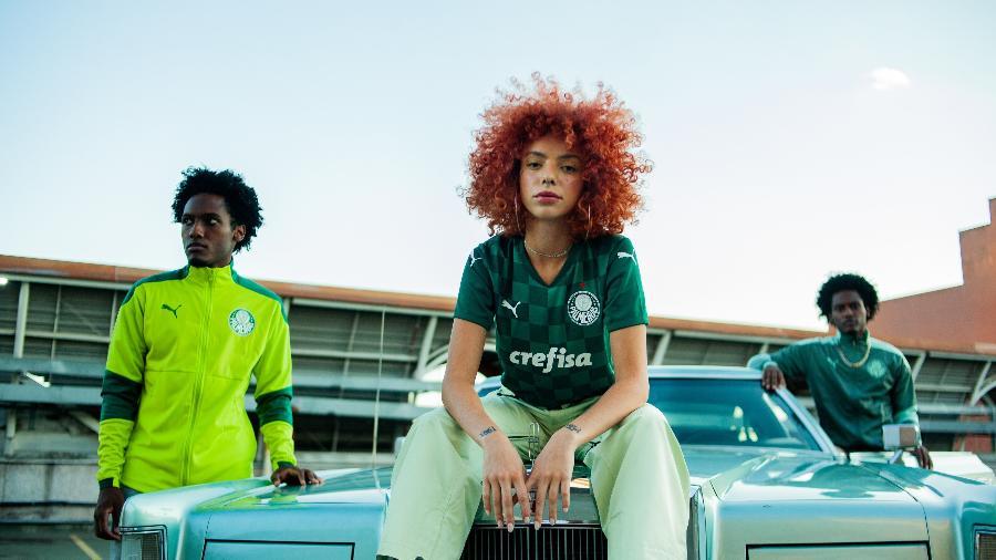 Nova campanha feita pela Puma para lançar uniforme do Palmeiras sofreu ataques racistas - Divulgação/Palmeiras