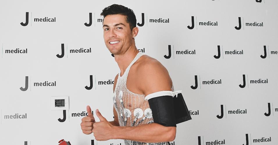 Cristiano Ronaldo durante testes físicos na Juventus