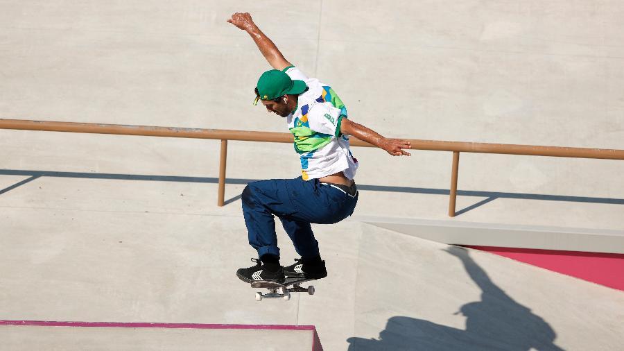Kelvin Hoefler em treino no skate street antes da estreia em Tóquio-2020 - Ezra Shaw/Getty Images