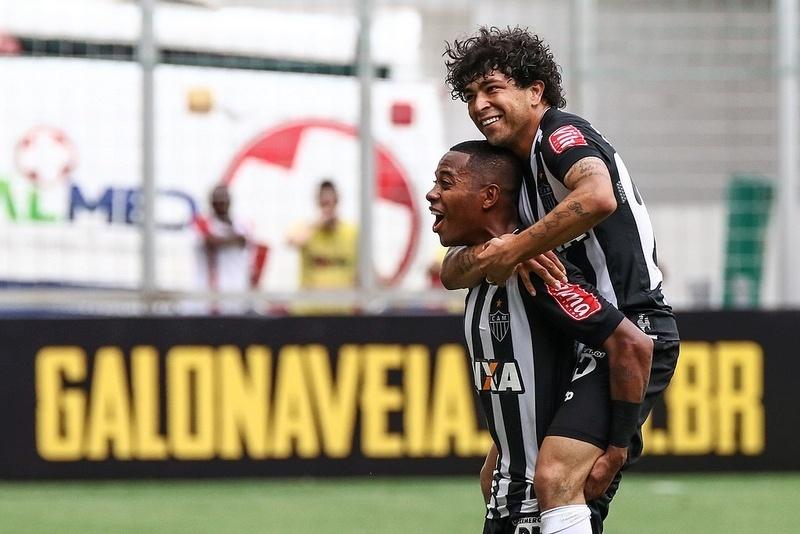 Robinho e Luan fizeram gols no primeiro jogo que o novo quarteto do Atlético-MG atuou junto