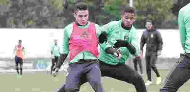 Raphael Veiga (à esquerda) está na mira de Cruzeiro e Palmeiras para a próxima temporada - Divulgação/Coritiba