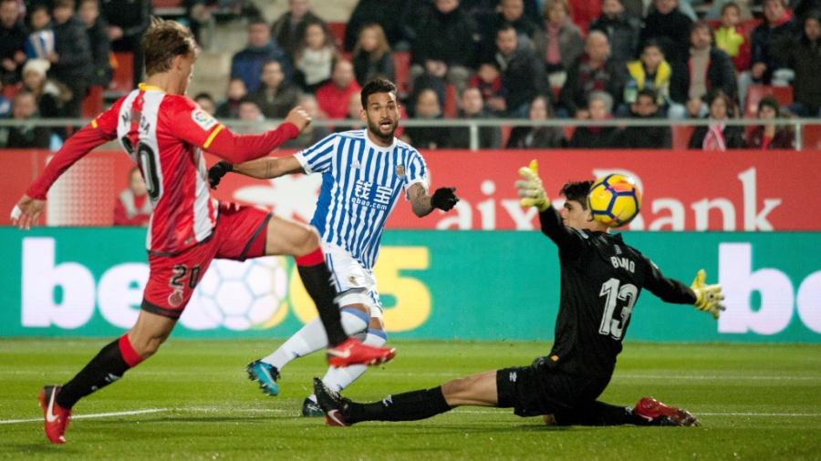 Willian José deixou sua marca para a Real Sociedad contra o Girona - Robin Townsend/EFE