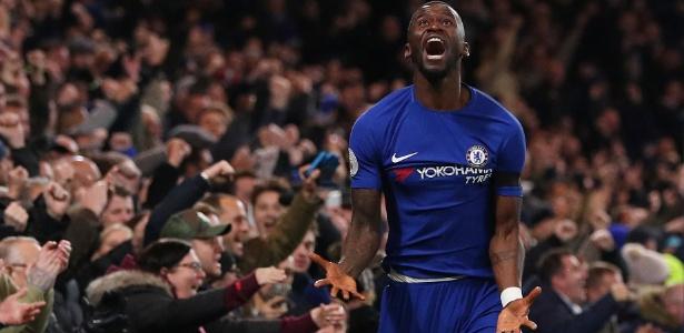 Rudiger comemora o gol da vitória do Chelsea sobre o West Bromwich