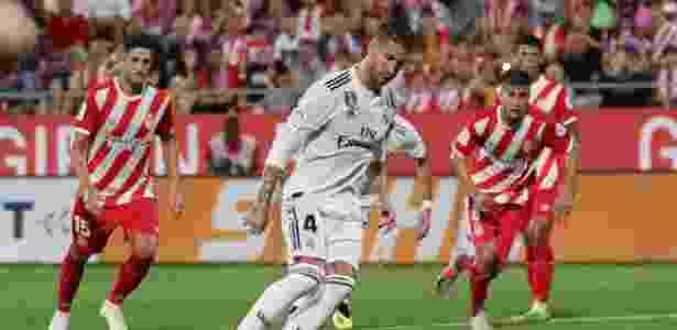 Sergio Ramos em ação pelo Real Madrid -  REUTERS/Albert Gea