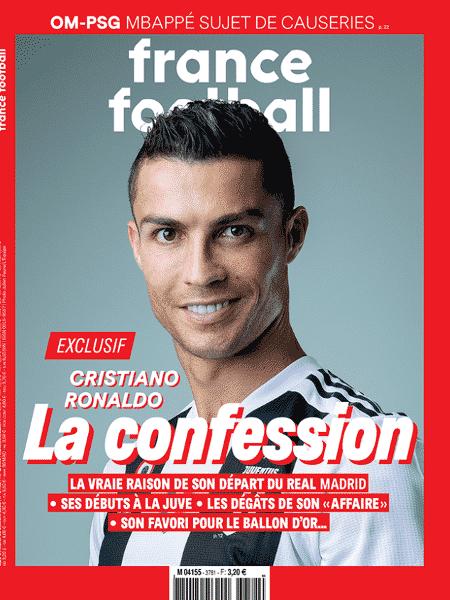Capa da revista France Football com Cristiano Ronaldo - Reprodução - Reprodução