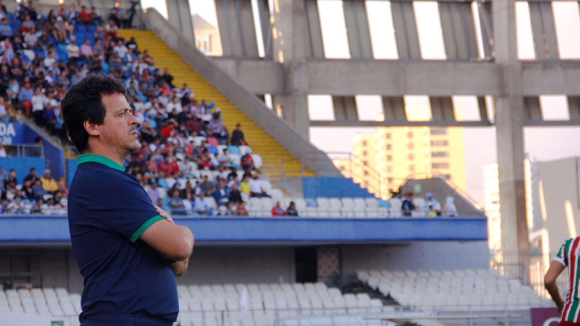 Fernando Diniz, durante partida entre Fluminense e Antofagasta