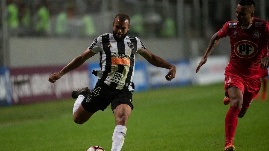 José Welison, durante partida entre Atlético-MG e Unión La Calera - Marcelo Alvarenga/AGIF