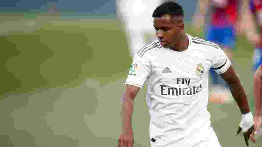 Rodrygo, atacante do Real Madrid, durante partida contra o Eibar - Europa Press Sports/Europa Press via Getty Images