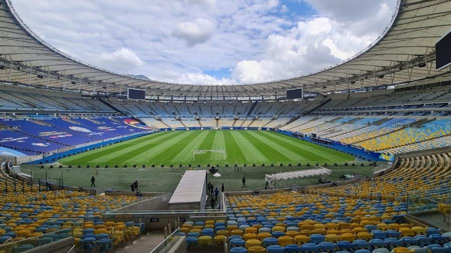 Panorama do Maracanã no dia 6 de julho de 2021, na semana da final da Copa América - Acervo pessoal