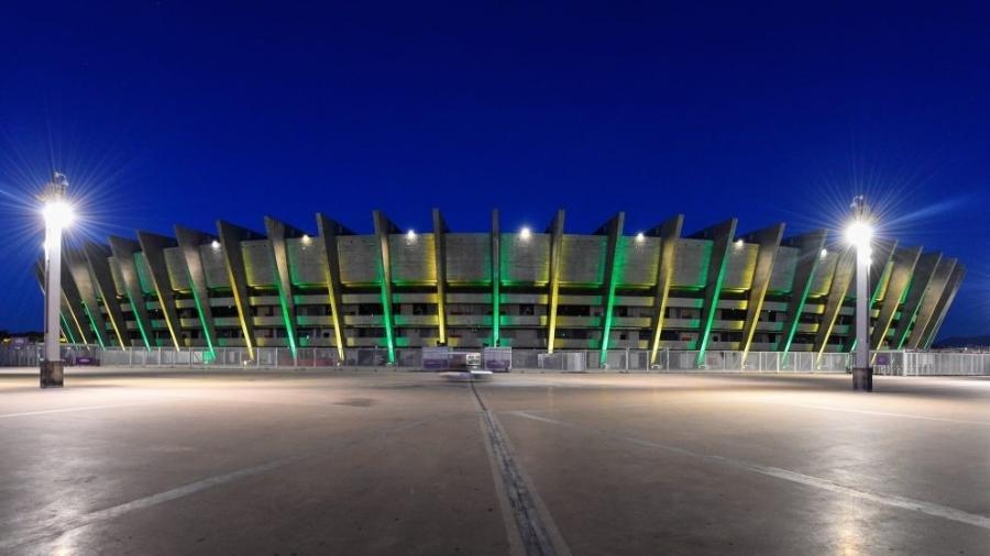 A prefeitura de Belo Horizonte liberou a presença de 30% da capacidade total dos estádios da capital para receber torcedores - Agência I7/Mineirão