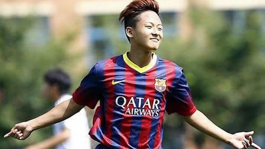 Seung Woo Lee foi apelidado de Messi coreano no Barça após sucesso na base - Reprodução