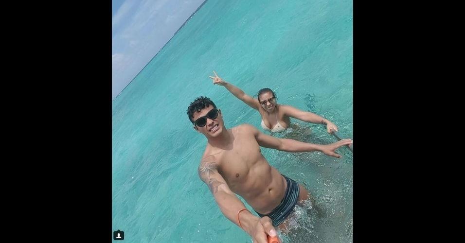 Thiago Silva visitou as Ilhas Maldivas pela primeira vez