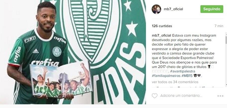 96247a4f95 Michel Bastos reativa o seu Instagram para