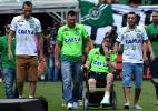 Chapecoense x Palmeiras - amistoso reúne homenagens às vitimas do acidente - AFP PHOTO / NELSON ALMEIDA