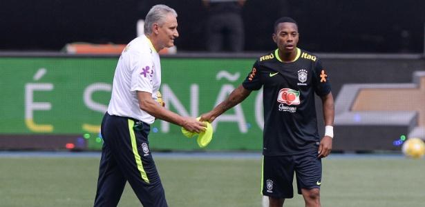 Robinho terá a companhia de Dudu no ataque da seleção