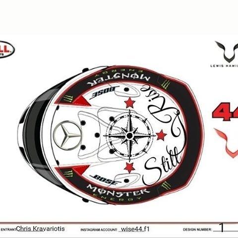 Fã participa de concurso para definir pintura do capacete de Lewis Hamilton em 2017